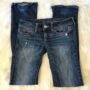 American Eagle Dark Slim Boot Cut Jeans Size 00